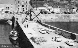 Porthleven, Lobster Pots On The Harbour Breakwater c.1955