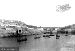 Porthleven, Outer Harbour And Lifeboat House 1908