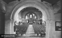 Porthleven, St Bartholomew's Church, Interior 1911