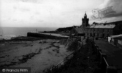 Porthleven, The Beach And Harbour Entrance c.1955