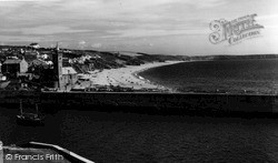 Porthleven, The Beach c.1955