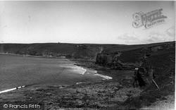 Porthleven, The Cliffs c.1955