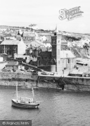 Porthleven, The Clock Tower c.1955
