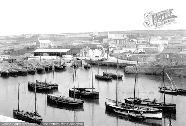 Photo of Porthleven, The Harbour 1890