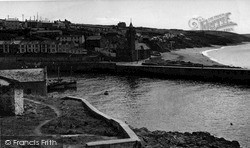 Porthleven, The Harbour And Beach c.1955