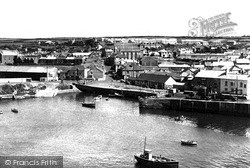 Porthleven, The Harbour And Fore Street c.1955