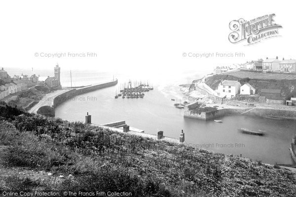 Photo of Porthleven, The Harbour And Look Out 1890