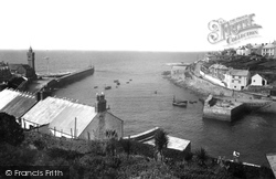 Porthleven, The Harbour And Look Out 1935