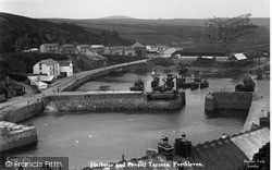 Porthleven, The Harbour And Peveril c.1933