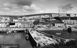 Porthleven, The Harbour Breakwater c.1955