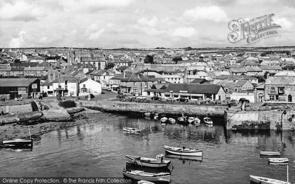 Photo of Porthleven, the Harbour c1955