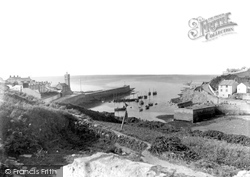 Porthleven, The Harbour Entrance 1890