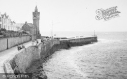 Porthleven, The Harbour Entrance And Clock Tower c.1955