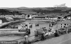 Porthleven, The Harbour From The High Road c.1955