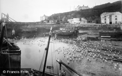 Porthleven, The Harbour, Gulls Waiting 1931
