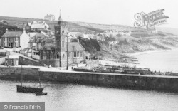 Porthleven, The Harbour Wall c.1932