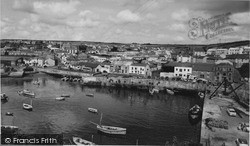 Porthleven, The Inner Harbour And Fore Street c.1955