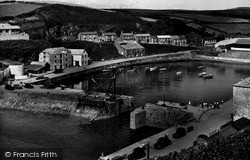 Porthleven, The Inner Harbour c.1955