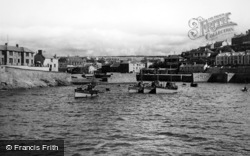 Porthleven, The Outer Harbour From The Breakwater c.1955