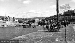 Porthleven, The Pier And Harbour Entrance c.1955
