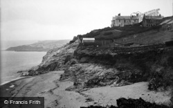 Porthleven, The Rock Hotel And Coast 1911
