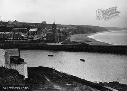 Porthleven, The Sands And Jetty c.1933
