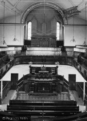 Porthleven, The Wesleyan Church, Interior 1911