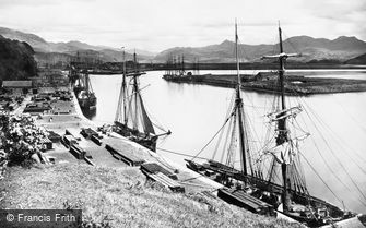 Porthmadog, the Harbour c1870