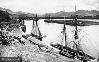 Porthmadog, the Harbour c1870