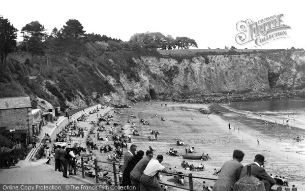 Photo of Porthpean, Beach c1955