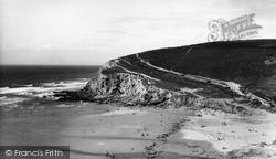 Porthtowan, Beach And East Cliff c.1955