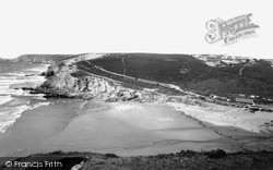 Porthtowan, Beach And East Cliff c.1955