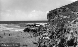Porthtowan, Beach And Rocks c.1955