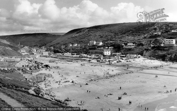 Photo of Porthtowan, Beach c.1955