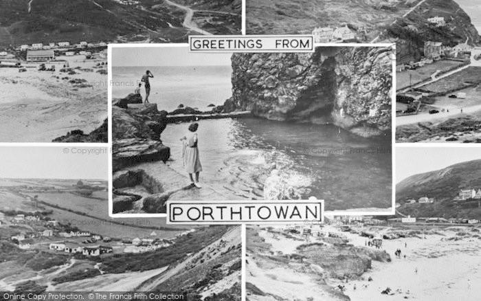 Photo of Porthtowan, Composite c.1955