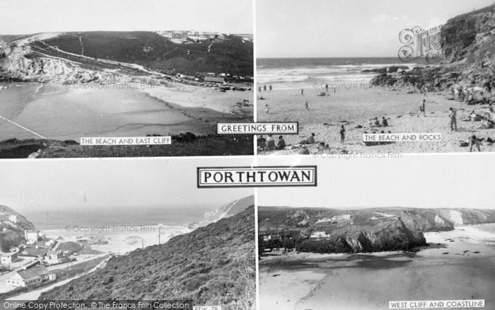 Photo of Porthtowan, Composite c.1955