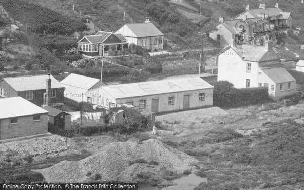 Photo of Porthtowan, Roof Advertisement For Tea 1935