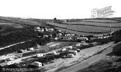 Porthtowan, The East Cliff Caravan Park c.1955