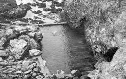 Porthtowan, The Swimming Pool c.1955