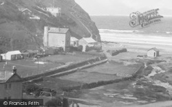 Porthtowan, West Beach Road And Wheal Lushington Engine House 1935