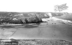 Porthtowan, West Cliff And Coastline c.1955