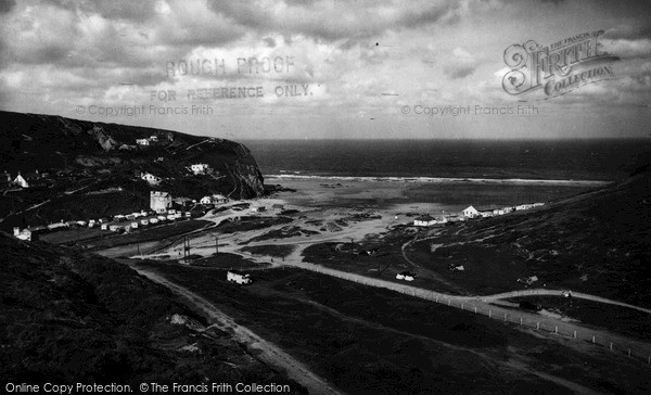 Photo of Porthtowan, West Cliff And Sands c.1955