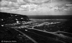 Porthtowan, West Cliff And Sands c.1955