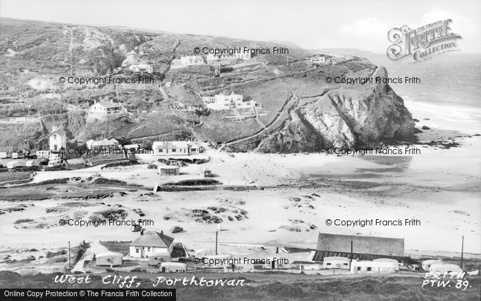 Photo of Porthtowan, West Cliff c.1955