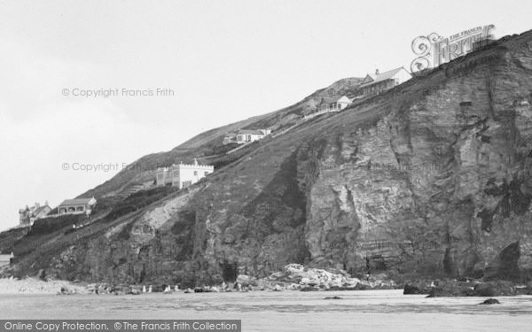 Photo of Porthtowan, West Cliff, Hotels 1925