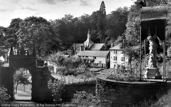 Portmeirion, Town Hall from Chantry Steps c1960