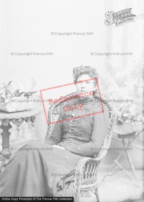 Photo of Portraiture, Miss A Alliston, Sparkford c.1895