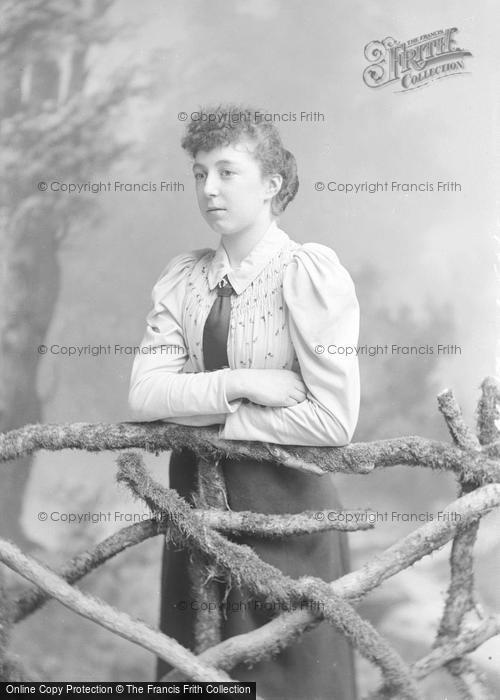 Photo of Portraiture, Miss Adams, Dampneys Butchers Yeovil 1894