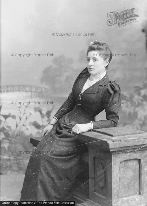 Photo of Portraiture, Miss Dowing, Houndstone House 1892