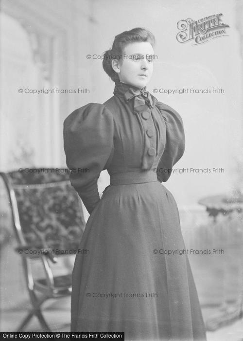 Photo of Portraiture, Miss Poole, Post Office Stoke 1896